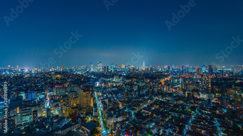 Door stickers Night blue 東京風景