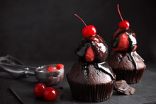 Delicious Chocolate Muffins Wi...