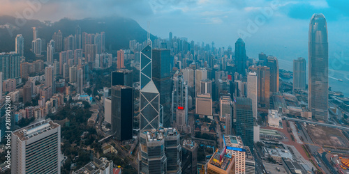 Fotografia  Hong Kong Cityscape in aerial view