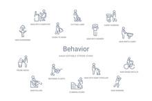 Behavior Concept 14 Outline Icons