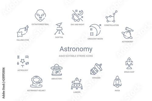 Papel de parede  astronomy concept 14 outline icons