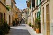 Altstadt von Alcudia Gasse Häuser Mallorca Spanien