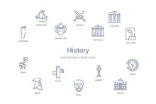History Concept 14 Outline Icons
