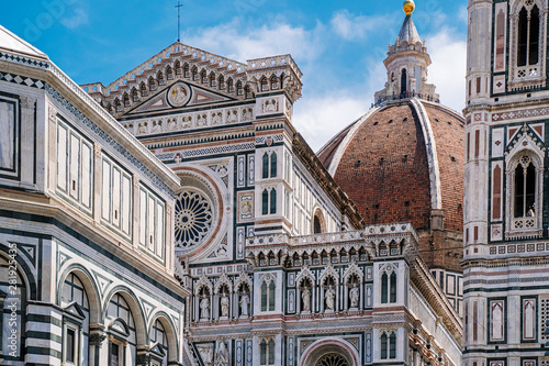 Photo Stands Florence Florence Duomo, Italy. Santa Maria del Fiore cathedral (Basilica of Saint Mary of the Flower). City in the day