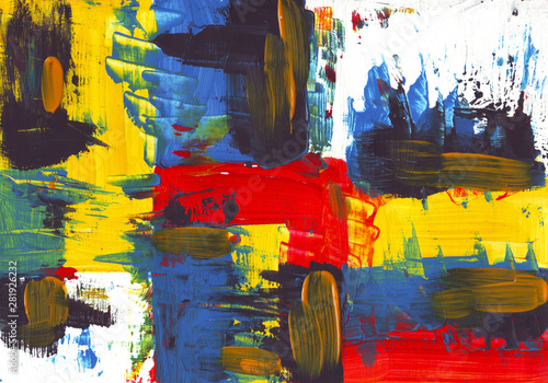Abstract painting texture great colors Wallpaper Mural