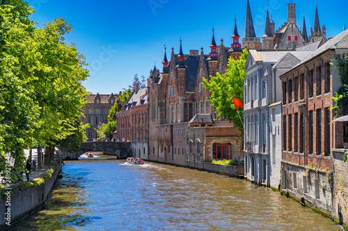 Tuinposter Brugge Beautiful city Bruges (Brugge) old town in Belgium, Europe