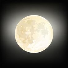 Realistic Moon Illustration De...