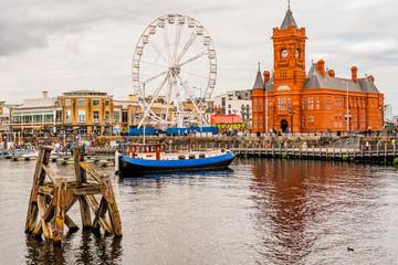Wales UK, Cardiff Docks, re...