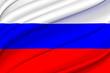 Leinwanddruck Bild - Russia waving flag illustration.