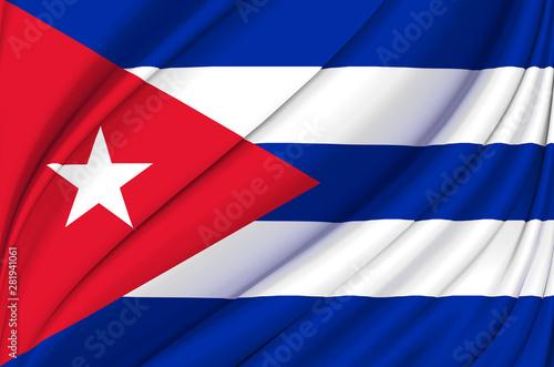 Cuba waving flag illustration. Canvas Print