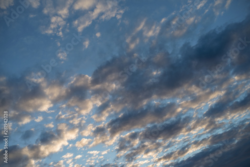Altocumulus cloud Canvas Print