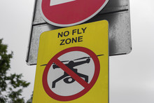 Sign No Drones Flying  Zone Warning  Safety Illegal