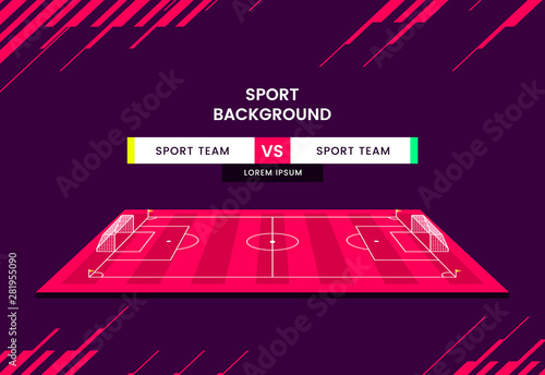 Soccer match schedule Vector illustration sports background Tableau sur Toile