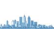 city, metropolis, architectural landscape, 3d illustration