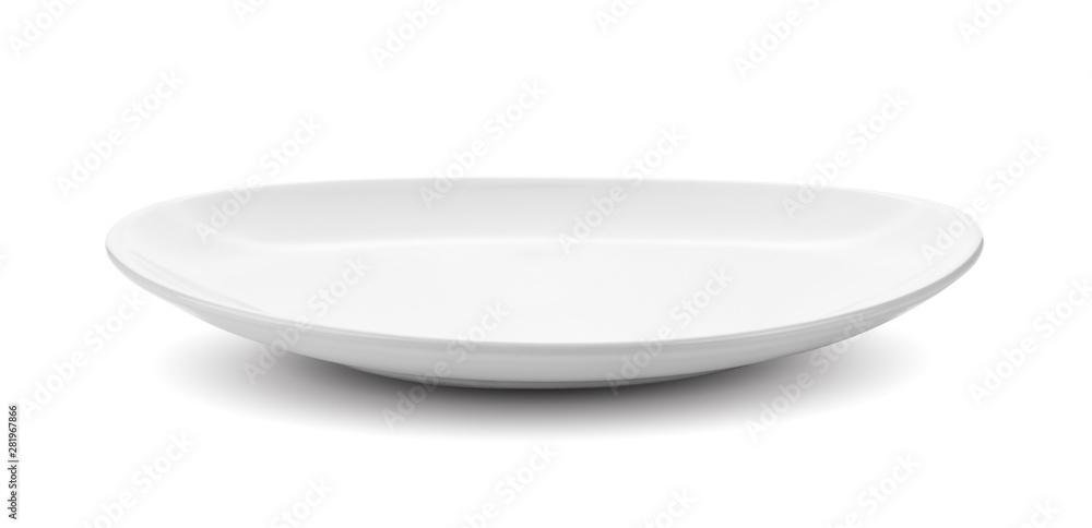 Fototapety, obrazy: white plate isolated on white background