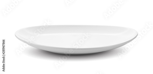 Fotografia white plate isolated on white background