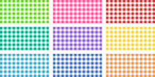 Square Of Vichy Fabrics Of Different Colours