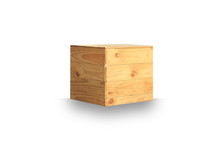 Wooden Box Isolated On White B...