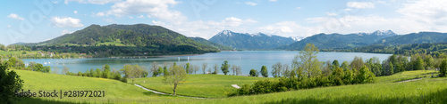 obraz PCV Landschaftspanorama Tegernsee, Blick vom Seeufer Kaltenbrunn