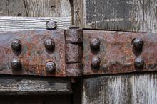 Heavy Antique Iron Hinge Close...