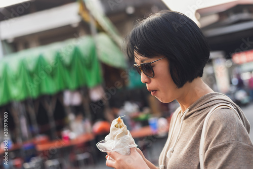 Photographie  Taiwanese snack of spring roll