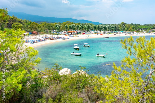 Platanitsi beach on Sithonia, Chalkidiki, Greece