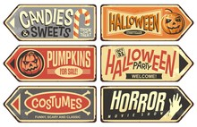 Halloween Events Retro Signs C...