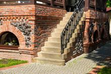 Stone Steps At A Brick Buildin...
