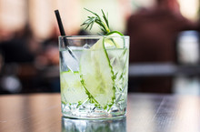 Refreshing Summer Cocktails, Martinis, Gin And Tonic