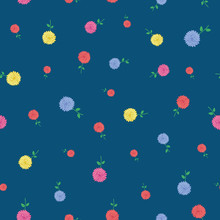 Flowers Floral Seamless Pattern Illustration For Fabric, Textile, Wallpaper, Stationary Etc.