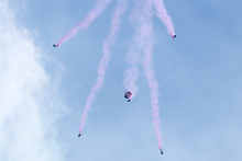 Skydivers In Formation At Fairchild Air Force Show