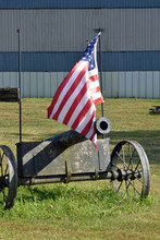 Canon With American Flag
