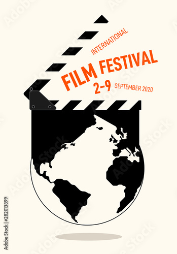 Movie and film festival poster modern vintage retro style Canvas Print