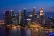 Singapore cityscape at Magic hour
