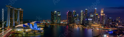 Singapore cityscape at Magic hour Canvas Print