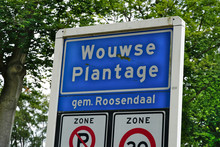 Traffic Sign With The Name Of ...