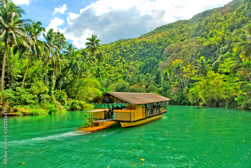 Fototapeta The Loboc River  -  a river in the Bohol province of the Philippines.