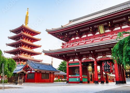 浅草寺 宝蔵門と五重塔 Wallpaper Mural