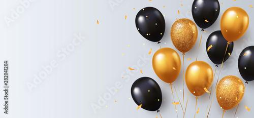 Cuadros en Lienzo Celebration, festival background with helium balloons