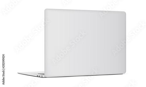 Photo Laptop backside isolated on white background. Vector illustration