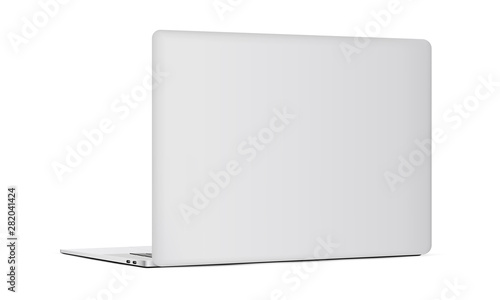 Fotomural Laptop backside isolated on white background. Vector illustration