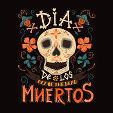 Hand Sketched Lettering Dia De Los Muertos