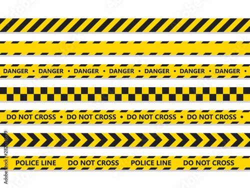 Crime line tape Poster Mural XXL