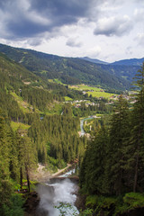 Fototapeta na wymiar The Krimml Waterfalls in the High Tauern National Park,