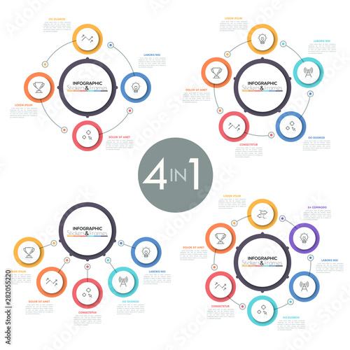 Stampa su Tela Modern infographic design template