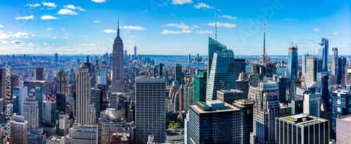 Fotografia Aerial  view Manhattan  skyscrapers in  New York.