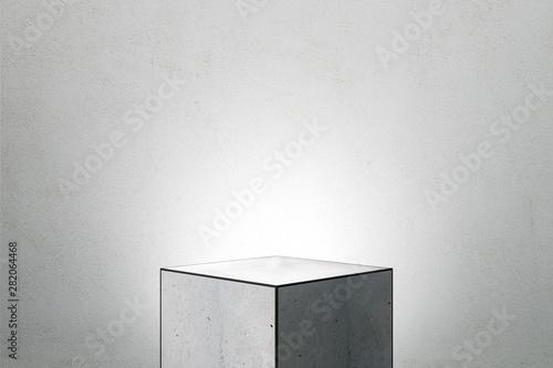 Fotografie, Obraz Abstract square pedestal