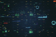 canvas print picture - Creative big data charts background