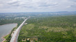 Aerial view construction of Bang Pa-In - Korat Expressway