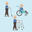 Old man sick and disable.